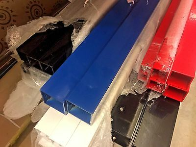 Square Coloured Aluminium Tube / Box Section 5 Diameter Options FREE UK POST