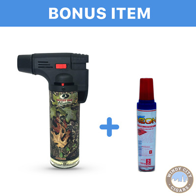 Mossy Oak torch lighter in Obsession & free led lighter
