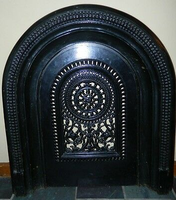 Antique Ornate Jackson's Ornate Arched Fireplace Surround With Insert - 225/248