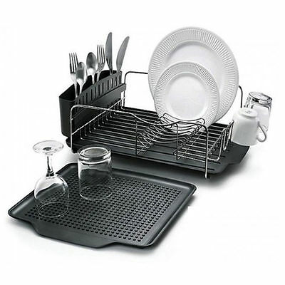 Polder Advantage 4 Piece Dish Rack System Drying Rust-Resistant Stainless Steel