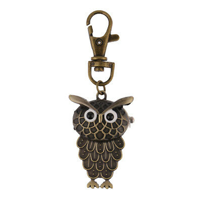Stylish Bronze Owl-shape Pocket Key Rings Watch Jewelry