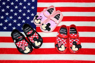 Melissa Cartoon Mickey Minnie mouse Sandals Jelly Shoes Kids Girl Toddler Gift