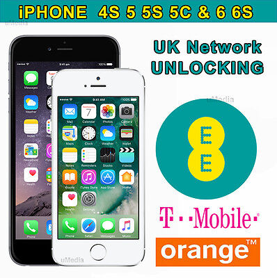 UK EE Orange Tmobile Network Unlocking Service For iPhone & iPad All Model