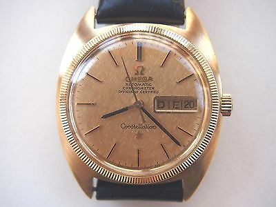 Vintage OMEGA CONSTELLATION DAY DATE AUTOMATIC CHRONOMETER in 750 Gold