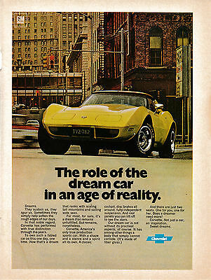 1977 Chevrolet Corvette-Your Dream Car Becomes Reality-Original Magazine Ad-Auto