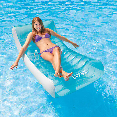 "Intex 74"" x 39"" Rockin Lounge Inflatable Swimming Pool Float"