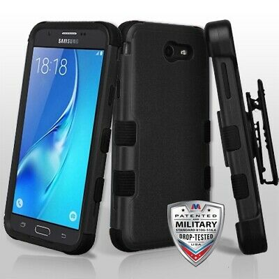 For Samsung GALAXY J7V 2017 Sky Prime Rugged Hard Case Protective Cover Holster
