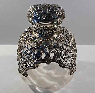 Victorian Sterling Silver & Glass Perfume Bottle; W. Comyns; 1898