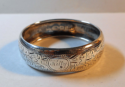 Antique Victorian Sterling Silver Napkin Ring; William M. Hayes; 1899