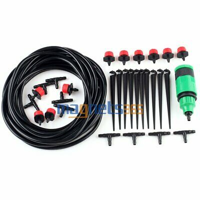 Water Irrigation Timer Auto Micro Drip Watering Plant System Garden Hose DIY Kit
