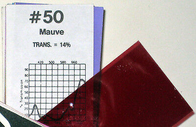 Roscolux 50 Mauve - ONE sheet Rosco Lighting color filter Gel