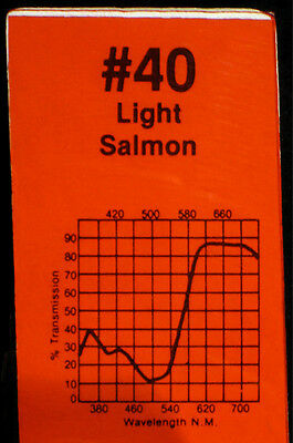 Roscolux 40 Light Salmon - ONE sheet Rosco Lighting color filter Gel