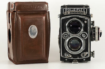 Rolleiflex 3,5 C Model K4C-Planar With Original Leather Case.