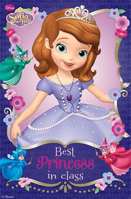 "Disney Sofia The First - Best Princess In Class 22"" X 34"" Poster Print RP6038"