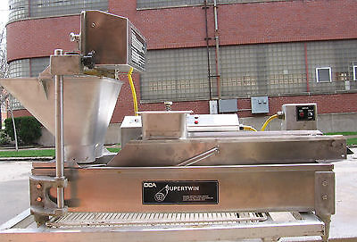 DCA SuperTwin Automatic donut fryer conveyor machine dual plungers high output