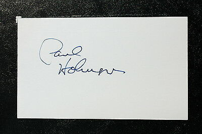 Paul Holmgren Index Card Hand Autographed