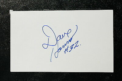 Dave Hannan Index Card Hand Autographed
