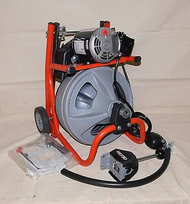 RIDGID 27013 Drain Cleaning Machine 100' Max Drum Capacity 1/3 HP  75' Cable