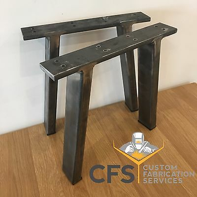 2x Coffee Table / bench / Chair Legs Heavy Duty Steel Designer Handmade Angled