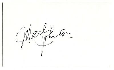 Mark Johnson Index Card Hand Autographed