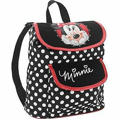 Small School Backpack For Kids Girls Children Minnie Mouse Dots Lightweight New