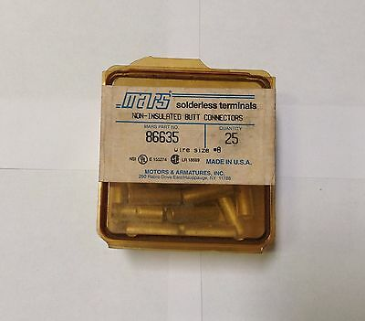 ~Discount HVAC~ MS-86635 - Mars Non-Ins Butt Connectors 25pack Wire Size #8