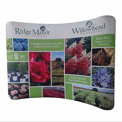 Portable Wav Exhibit Stand 10' Trade Show Display Booth Pop Up free custom print