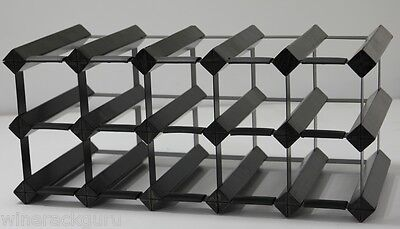 12 Or 15 Bottle Onyx Black  Wine Rack ,100 % Australian Made