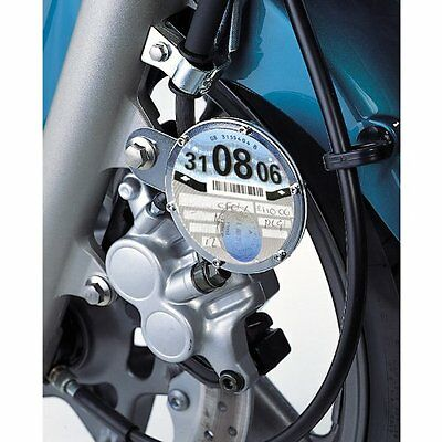 Oxford Motorcycle Motorbike Scooter Taxsafe Tax Disc Holder  - Carbon S/Steel
