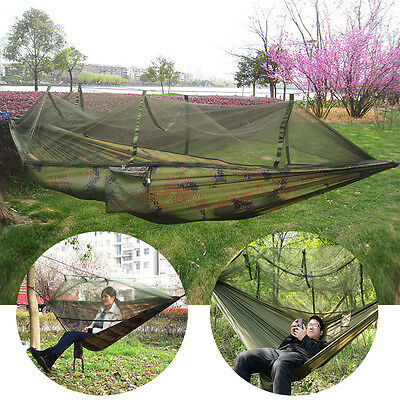 Double Person Outdoor Hammock with Mosquito Net Travel Camping Picnic