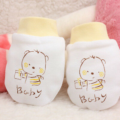Anti Scratch Gloves Soft Cotton Mittens For Newborn Baby Infant Hand Face Guard