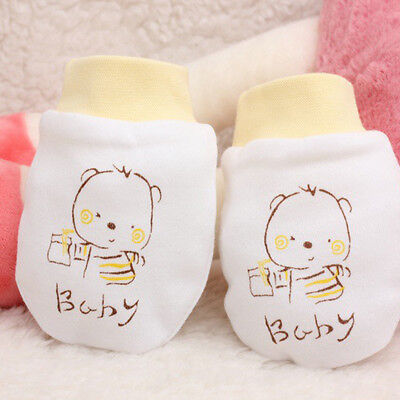 Gloves Soft Cotton Mittens For Newborn Baby Infant Hand Face Guard