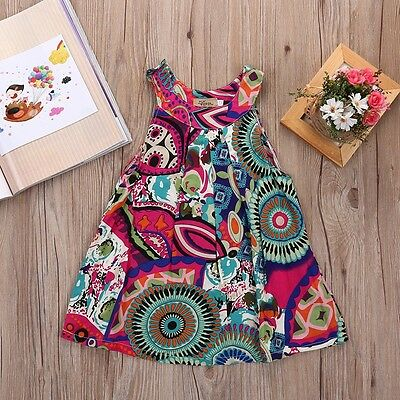 Toddler Kid Baby Girl Summer Lace Crochet Dress Princess Party Pageant Dresses g