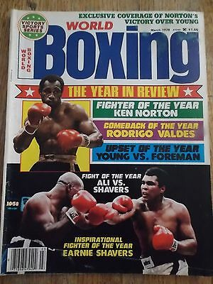 Vintage WORLD BOXING Magazine March 1978 Year in Review Issue ALI Cover