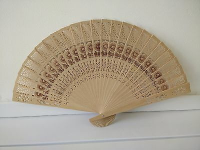 1/5/10 Pcs Wooden Chinese Bamboo Folding Hand Fan Wedding Party Vintage Gift