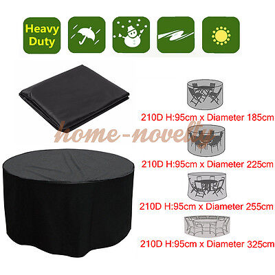 Garden Patio Furniture Set Heavy Duty 4/6/10 Round Seater Table Waterproof Cover
