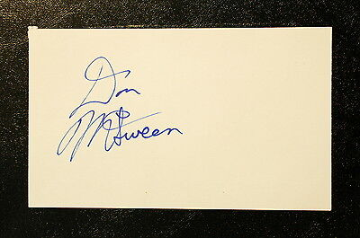 Don McSween Index Card Hand Autographed