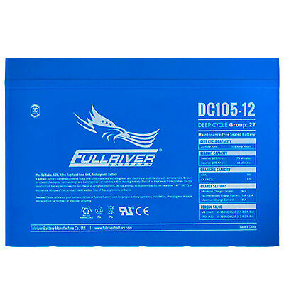 Fullriver DC105-12 105Ah 12V Agm Deep Cycle Battery 4x4 Camping Caravan