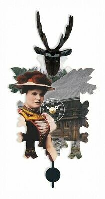Kuckulino Black Forest Clock with quartz movement and cuckoo ch.. TU 3031 PQ NEW