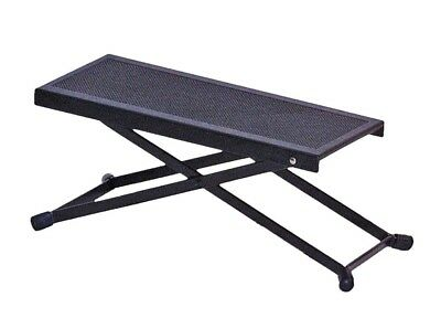 Black Guitarist's Footstool *NEW* Height Adjustable Guitar Foot Stool