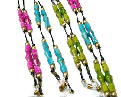 Reading Eyeglasses cord, spectacle chain holder lanyard - colourful beaded
