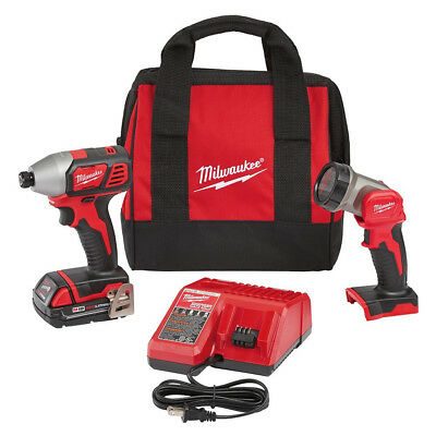"Milwaukee M18 18V Li-Ion 1/4"" Impact Driver Kit w/ LED Work Light  2656-21L new"