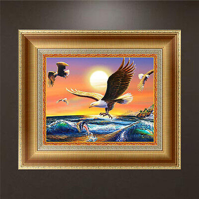DIY 5D Diamond Embroidery Painting Eagle Cross Stitch Kit Craft Home Decor
