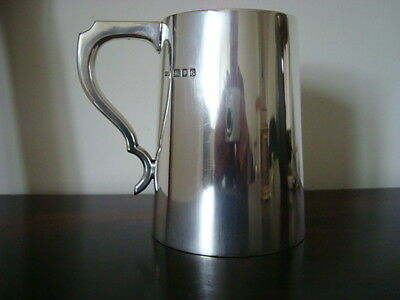 1 Pint Silver Tankard A Heavy 462 Grams.