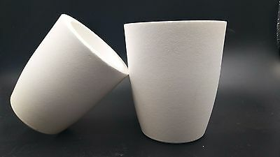 Crucible Dish Cup Ceramic Type For Melting Set 2 Sizes Melt Gold Silver Jewelry