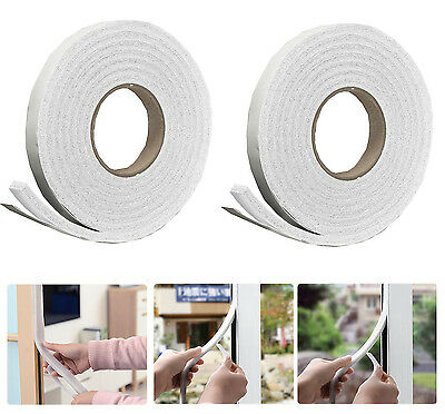 Foam Draught Excluder Tape Draft Weather Seal Strip Insulation Door Window
