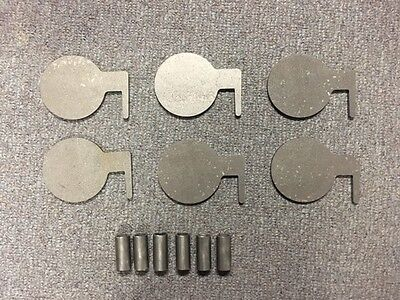 """AR500 Steel Target Dueling Tree DIY Kit 6pcs 4"""" x 3/8"""" Pads With Tubes! USA MADE"""