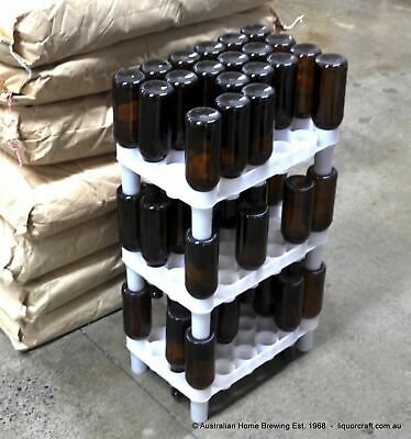 Fast Rack 72 Bottle Drying & Stacking System home brew bottle draining tree USA