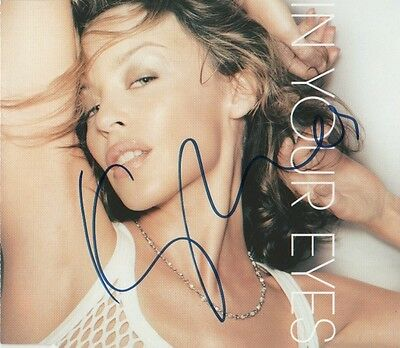 """Kylie Minogue Autogramm signed CD-Cover """"In Your Eyes"""""""