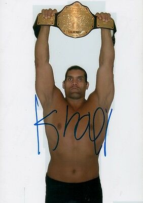 "Great Khali ""Wrestling"" Autogramm signed 20x30 cm Bild"